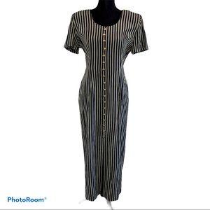 Betsy Lauren Long Striped Dress 5/6